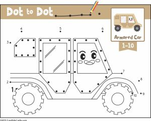 Image of Transportation Dot to Dot Activity