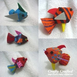 Recycled Egg Carton Fish Craft