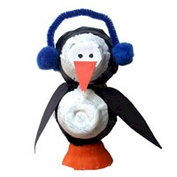 Image of Egg Carton Penguin Craft