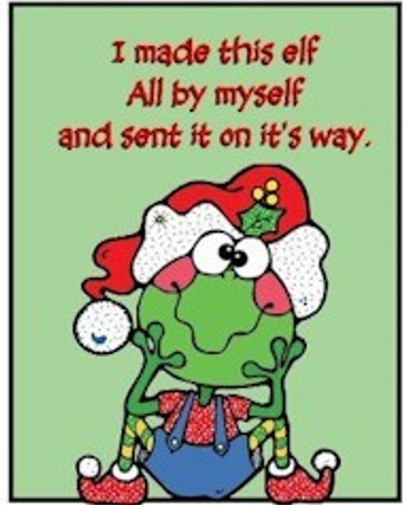 graphic regarding Elf Printable titled Printable Elf Thank On your own Card