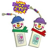 Image of Snowman Bookmark