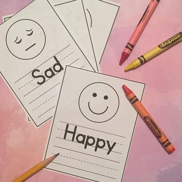 Feelings Faces Worksheet For Preschoolers