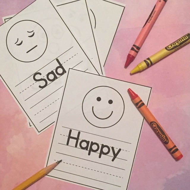 Feelings Faces Worksheet for Preschoolers