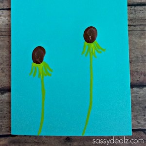 Image of Fingerprint Dandelion Card