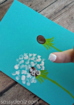 Image of Fingerprint Dandelion Card
