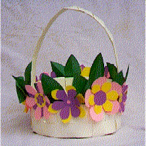 Image of Woven Flower Basket