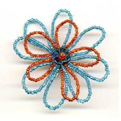 Beaded Flower Shoe Clip