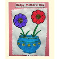 Image of Flowered Mothers Day Card