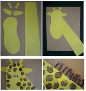 Image of Foot and Fingerprint Giraffe