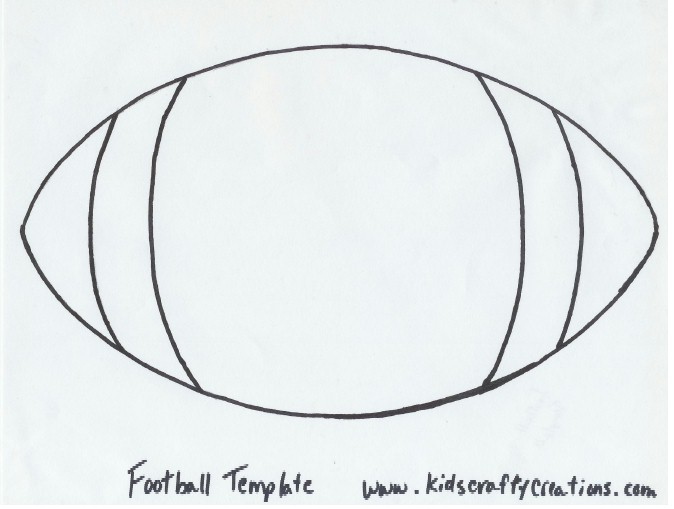 Soft image intended for printable football template
