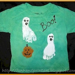 Footprint Ghost Halloween Shirt
