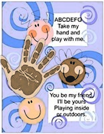Printable Friendship Handprint Poem