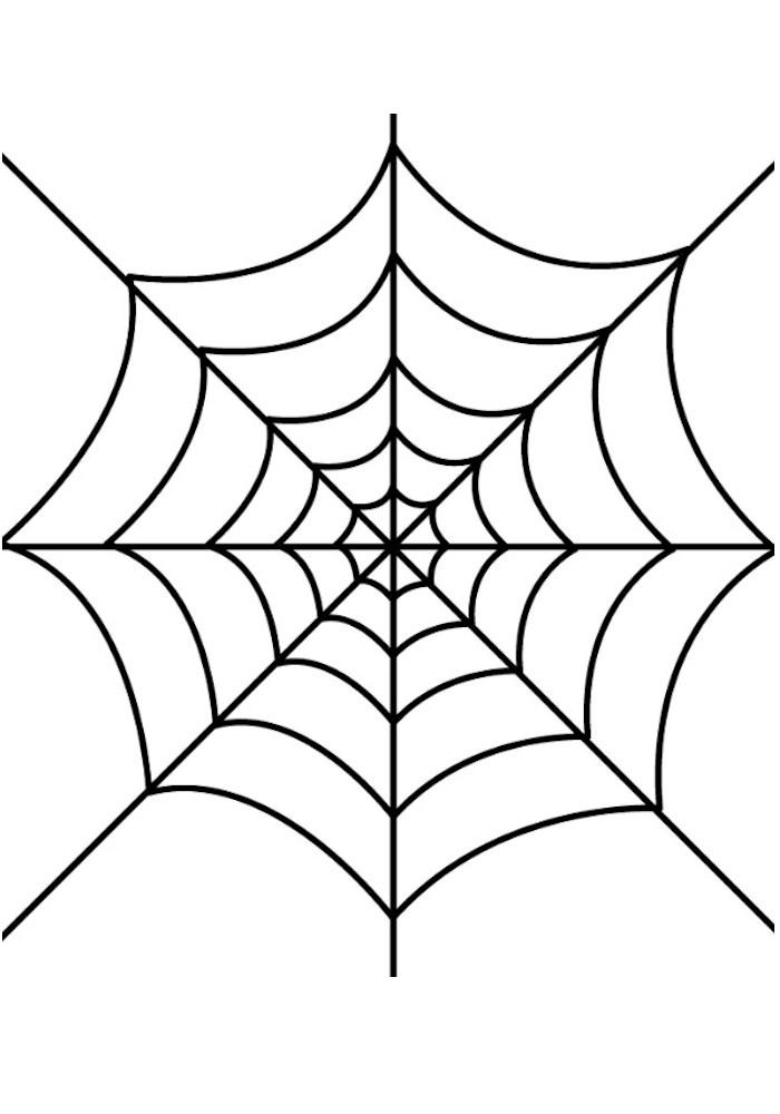 Glue Spider Web Halloween Window Cling