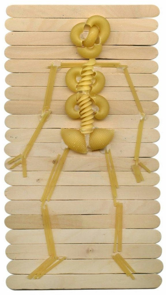 Image of Halloween Skeleton Made From Pasta