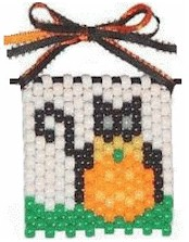 Image of Halloween Cat Beaded Banner
