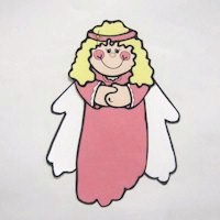 Image of Hand and Footprint Angel