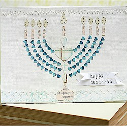Image of Handmade Hanukkah Card
