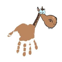 handprint horse craft