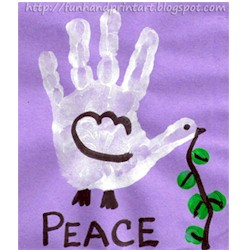 Handprint Peace Dove