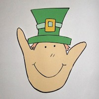 Image of Handprint Leprechaun
