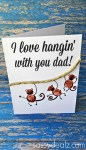 Image of Best Dad By Par Handprint Card