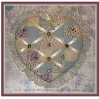 Image of No Sew Heart Shaped Jewelry Holder