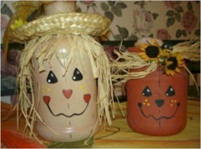 Image of Jolly Painted Halloween Jars