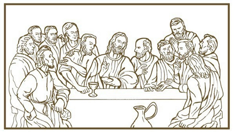 photo relating to Last Supper Coloring Pages Printable known as Past Dinner Coloring Webpage