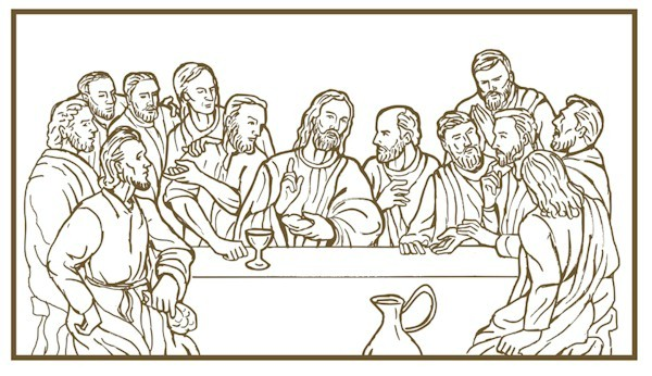 Famous Last Supper Coloring Page Ensign