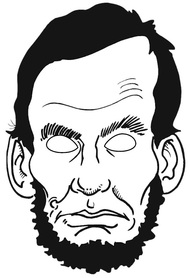 Abraham Lincoln Puppet Mask
