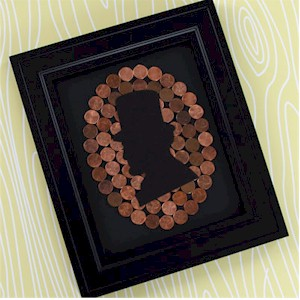 Lincoln Penny Silhouette