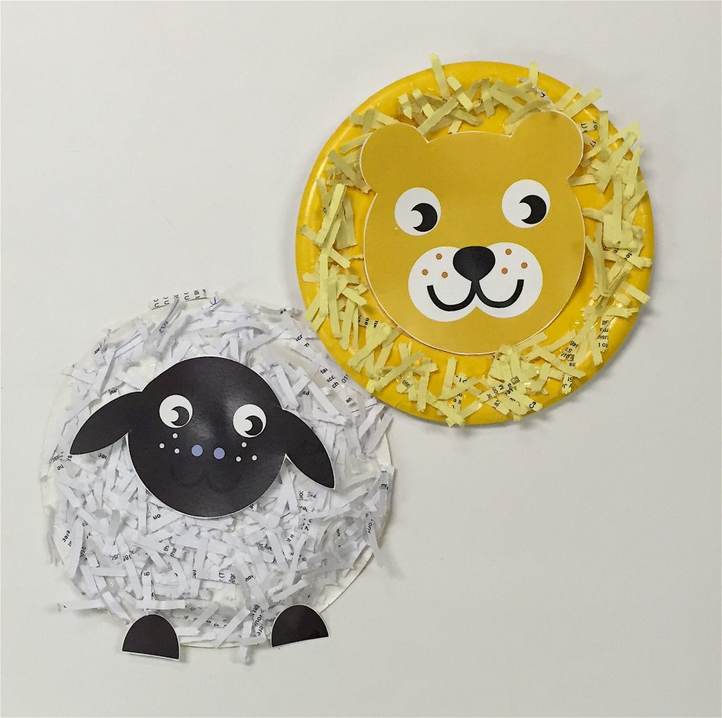 Image of Lion and Lamb Paper Plate Craft