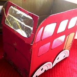 Recycled London Bus