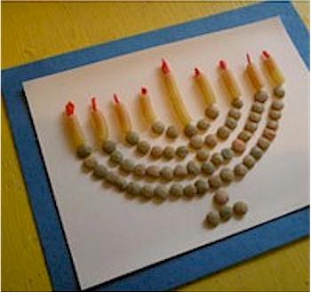 Image of Macaroni Menorah