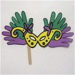 Image of Flowered Mardi Gras Mask