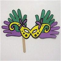 Image of Handprint Mardi Gras Mask
