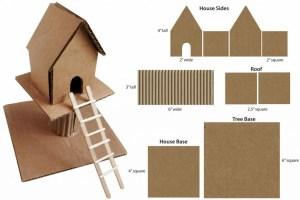Image of Miniature Cardboard Treehouse