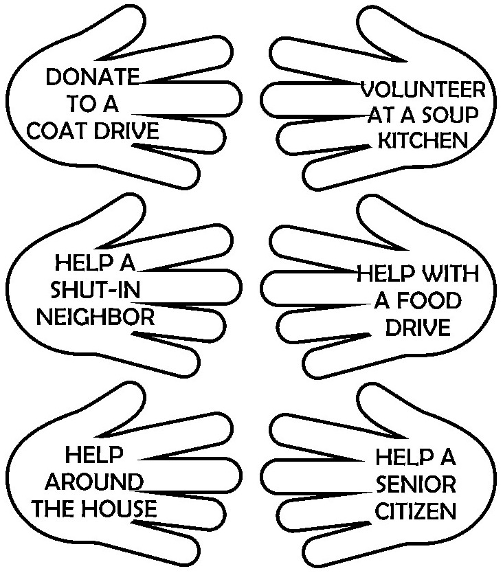 martin luther king helping hands poster