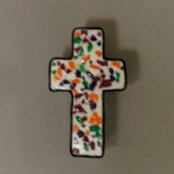 Image of Mosaic Egg Shell Cross