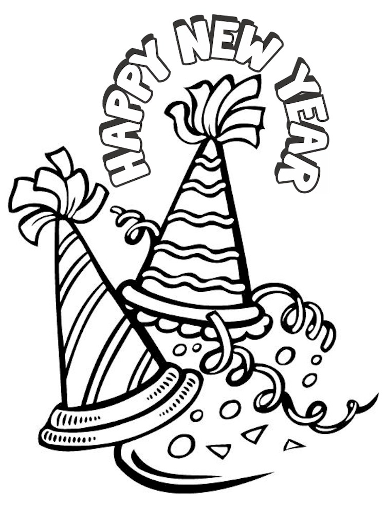 New Years Coloring Page