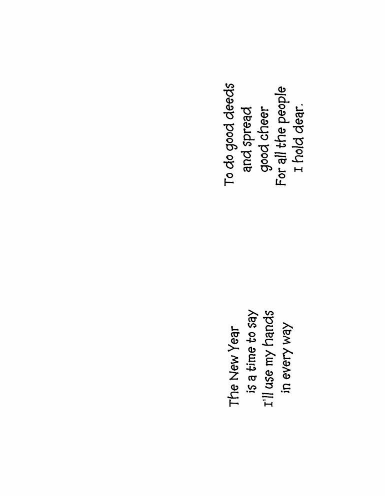 New Years Handprint Poem