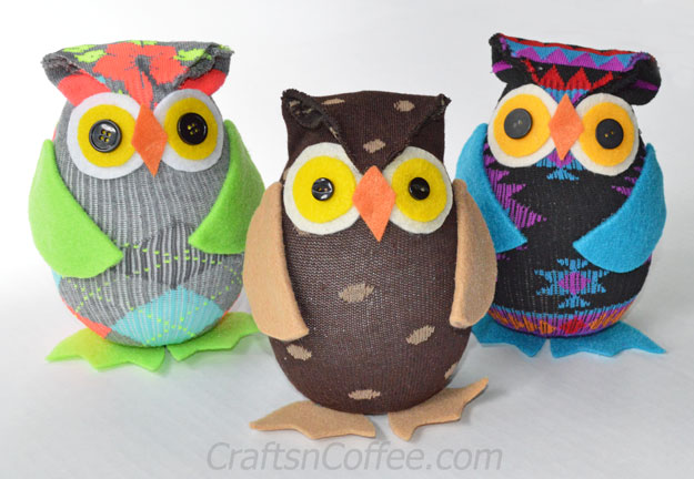 Image of No Sew Owls From A Sock