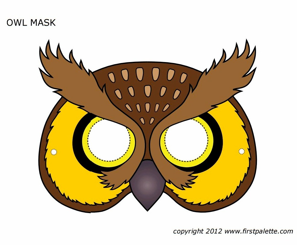 photo relating to Printable Mask identified as Printable Owl Mask