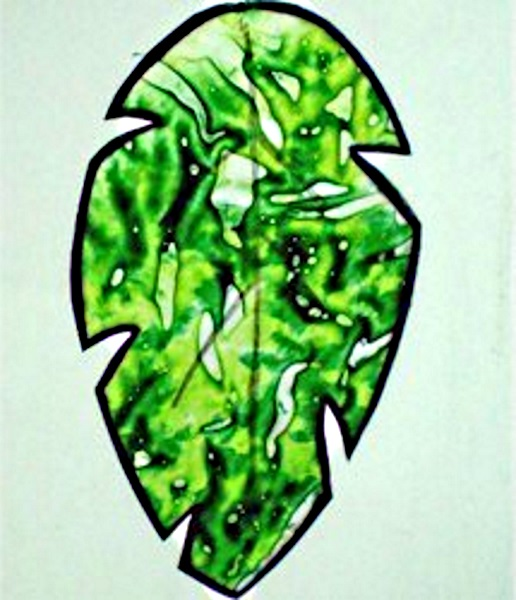 Image of Palm Leaf Crayon Sun Catcher