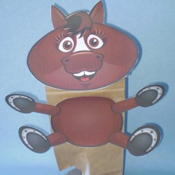 Image of Horse Paper Bag Puppet