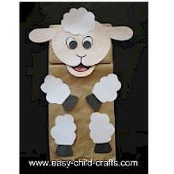 Image of Paper Bag Lamb Puppet