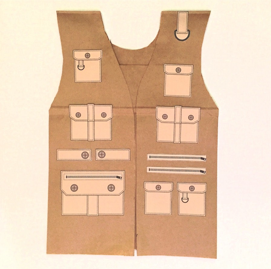 vest top template - paper bag vest template 26 images of culture brown bag