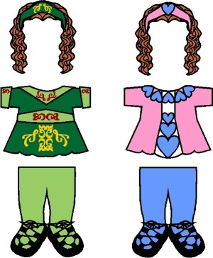 Image of Playtime Irish Step Dancing Paper Doll