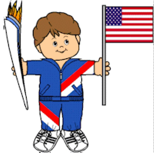 Playtime Paper Doll Olympian Torch Bearer