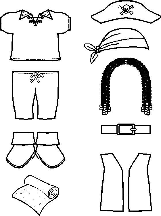Playtime Pirate Paper Doll